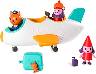 Sago Mini, Jinja?S Jet Plane, with Figures & Accessories, for Kids Ages 3 & Up