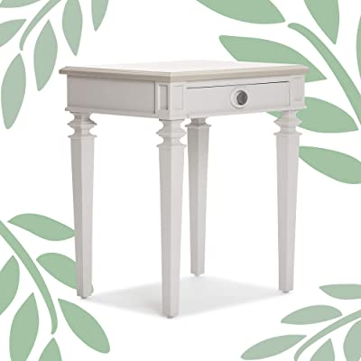 Finch Benson End Table Nightstand With Drawers Wooden Bedside Or Living Room Storage Modern Farmhouse Decor Lightgray Furniture Decor