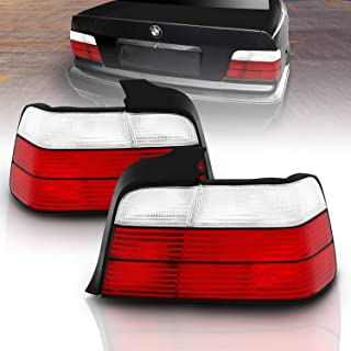 AmeriLite 4 Door Taillights Red/Clear for BMW 3 Series E46 - Passenger and Driver Side