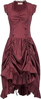 Steampunk Gothic Victorian Ruffled Dress Sleeveless