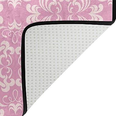 MASSIKOA Floral Non Slip Backing Entrance Mat Floor Mat Rug Indoor Outdoor Front Door Bathroom Mats 23.6 x 15.7 inch