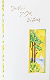 On Your 70th Birthday Greeting Card - Seventy 70 Years Old/Seventieth -