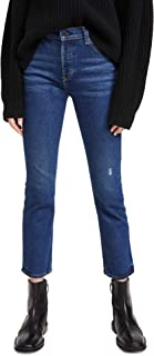 ASKK NY Women's High Rise Straight Jeans