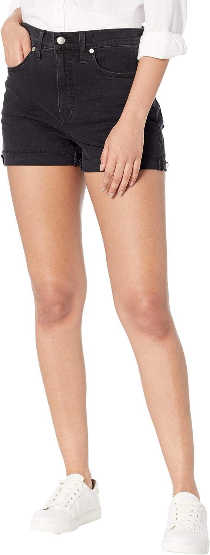Madewell High-Rise Denim Shorts in Lunar Wash: Raw-Hem Edition