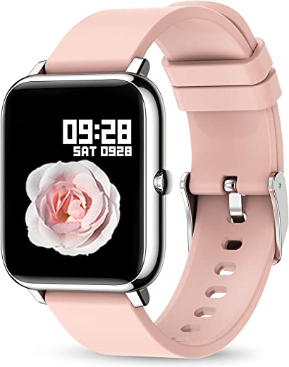 Smart Watch, KALINCO Fitness Tracker with Heart Rate Monitor, Blood Pressure, Blood Oxygen Tracking, 1.4 Inch Touch Screen Smartwatch Fitness Watch...