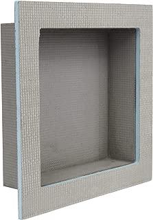 Houseables Shower Niche, Insert Storage Shelf, 12 x 12 Inch, Grey, XPS Foam, Leak-Proof, Waterproof, Recessed Preformed Caddy, Tile Prefab Shelves for Bathroom, Prefabricated Deep Wall Toiletry