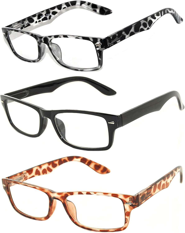 Retro Fashion Style Narrow Rectangular Frame Clear Lens Eyeglasses 3 colors