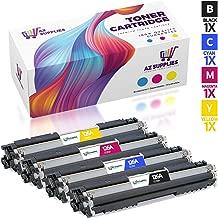 AZ Supplies Compatible Replacement Toner Cartridge Set for HP 126A, CE310A, CE311A, CE312A, CE313A for use in CP1025, CP1025nw, Laserjet Pro 100 Color MFP M175nw, TopShot Laserjet Pro M275 MFP.