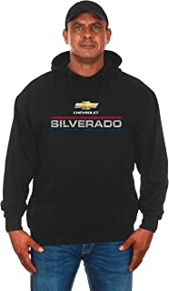 JH DESIGN GROUP Men's Chevy Silverado Distressed Logo Pullover Hoodie
