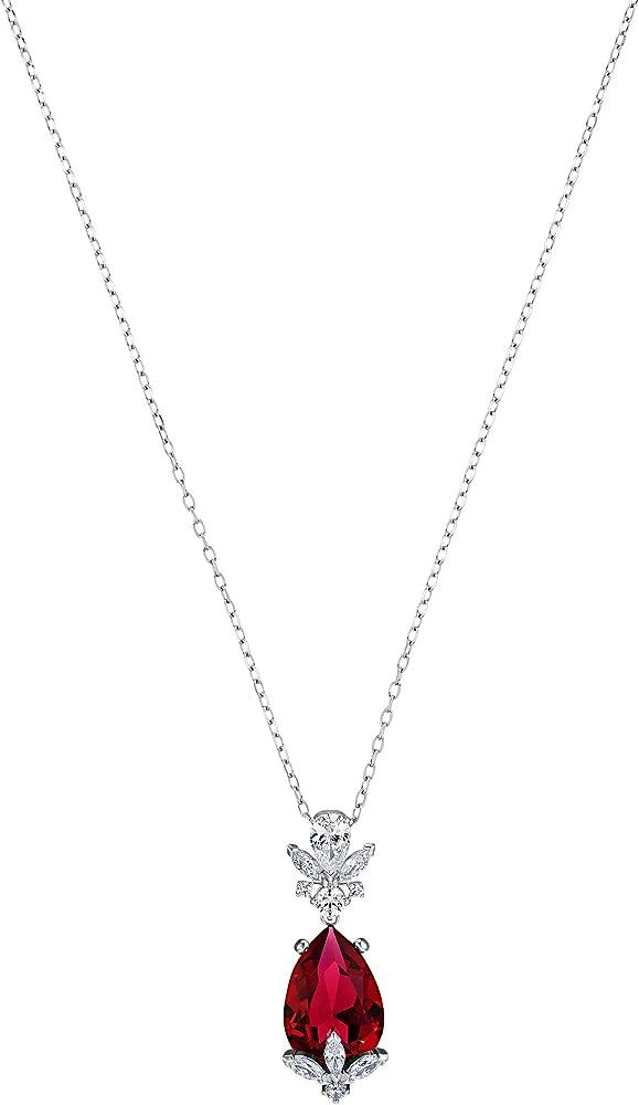 Collana da donna di swarovski in lega di metalli placcatura rodio e swarovski zirconia white e scarlet. 5495077