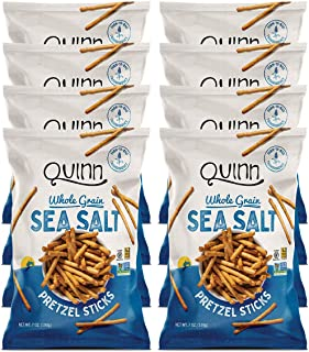 Quinn Snacks Non-GMO and Gluten Free Pretzels, Classic Sea Salt, 7 Ounce (8 Count)