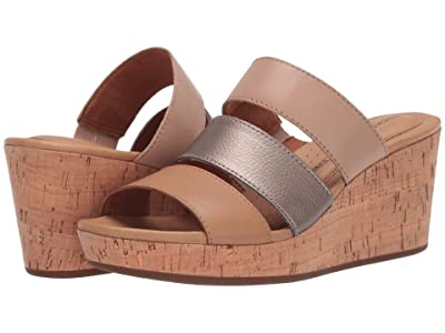 Rockport Lyla 3 Band Slide (Tan Multi) Women