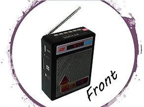Selling Uniqness Sonilex Portable FM Radio with LED Display, USB Pen Drive, SD Player (Black)