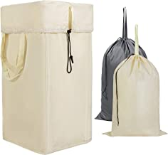 Chrislley 74L Large Laundry Hamper with Removable Bag Replacement Laundry Bag for Hamper Dirty Clothes Bag for Traveling C...