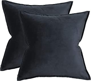 Original Pro Solid Velvet Throw Pillow Covers Set of 2 Decorative Cushion Cases Soft Square Pillow Covers for Sofa Couch Bed 20