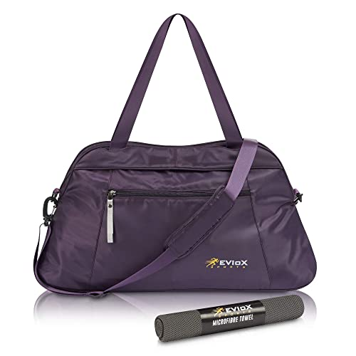 EVIoX Sports Yoga Ladies Gym Bag Women + FREE Microfibre Sports Towel    Travel Overnight Weekend 349dba08a0