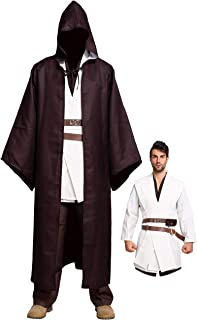 Spooktacular Creations Full Set Tunic Hooded Robe Cloak Jedi Costumes Outfit for Halloween Cosplay