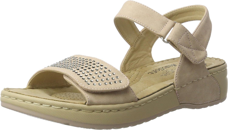 Rieker Damen V5772 Offene Sandalen mit Keilabsatz  | Viele Stile  | Schöne Kunst  | Verschiedene Arten und Stile