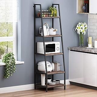 O&K FURNITURE 5-Shelf Ladder Bookcase, Leaning Bookcases...