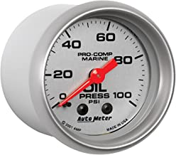 Auto Meter AutoMeter 200790-33 Ultra-Lite Gauge, Oil Pressure, 2 1/16