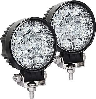 Exzeit Waterproof LED Pods, 60° Flood Led Light Bar, 54W 3800LMS Off road Lights, Led Work Lights for Truck Trator Jeep ATV UTV Golf cart Boat, 12v/24v