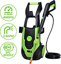 Aodern 4000 PSI 3.0 GPM Electric Pressure Washer, Power Wash Machine with 5 Quick-Connect Spray Tips, Cleaning Task Accelerator,Electric Power Washer