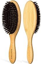 Boar Bristle Hair Brush Men | Mens Brush Hair Brushes for Women | Pure Boars Hair Brushes for Women Mens | Oval Brush | 100% Bamboo Wooden Bore Pro Eco Hairbrush for Thin Natural Soft Fine Hair