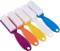COSMOS 5 Pieces Hand Nail Clean Brushes with Long Handle Bar Grip