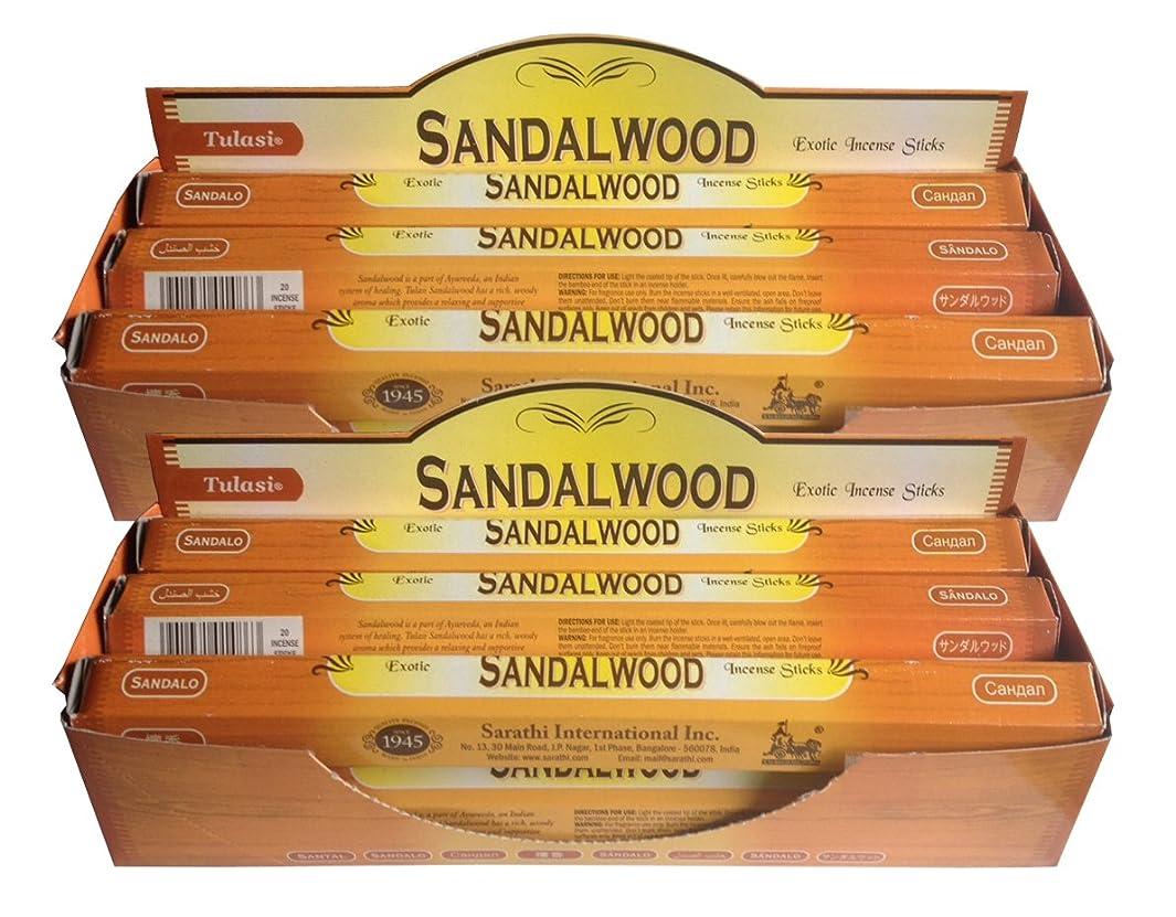 心理的に除去脅威トゥラシ お香 サンダルウッド 約20本×12個セット