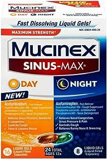 Mucinex Sinus-Max Max Strength Day & Night Liquid Gels, 24ct