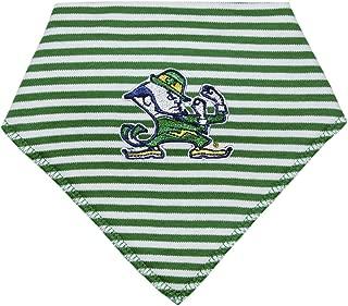 University of Notre Dame Leprechaun Striped Baby Bandana Bib