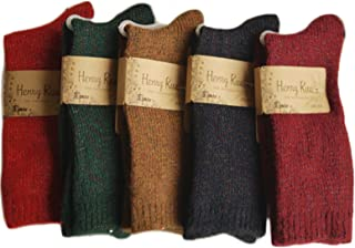Lovely Annie Women's 6 pairs Thick Streatcheable Multicolored Acylic Socks(6 Random Colors)
