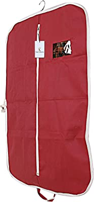 Kuber Industries Foldable 3 Piece Non Woven Coat Cover, Maroon (CTKTC2411)