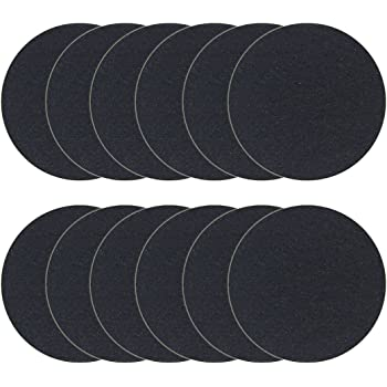 12 Pack Charcoal Filters for Kitchen Compost Bin Pail Replacement Filter Countertop Home Bucket Refill Sets, Round