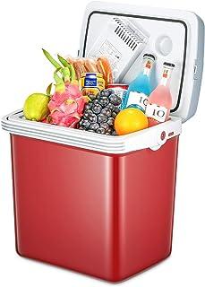 TIBEK Nevera portátil, 12V/220–240V Nevera portátil con Funciones de refrigeración y Calefacción, Nevera pequeño para Coche, Barco, casa y Oficina, L, Color Rojo