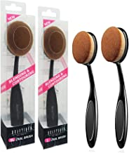 Beautia 2Pack Large Size Oval Makeup Brushes, Foundation, Concealer. Contouring Makeup..