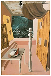 American Gift Services - Artist Rene Magritte Fine Art Poster Print of Painting The Difficult Crossing - 18x24