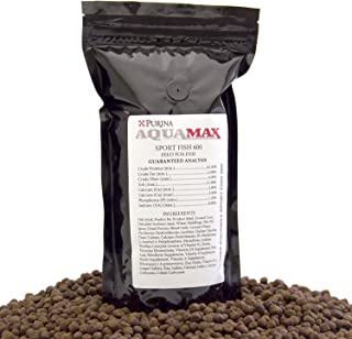 Aqua Max Sport Fish 600 7.1mm Extruded Floating Fish Food Pellets For Carnivorous and Omnivorous Species, 19 Ounce