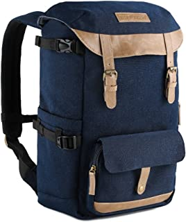Camera Backpack, K&F Concept Professional Camera Storage Bag Waterproof and Tear Proof Rucksack with Rain Cover for DSLR Camera Tripod Lens Accessories