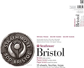 Strathmore (580-92 500 Series Bristol, 2-Ply Plate Surface, 14
