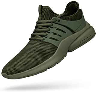 Feetmat Men's Non Slip Mesh Sneakers Lightweight Breathable Athletic Running Walking Tennis Shoes