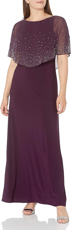 Alex Evenings Women's Long Embellished Popover Dress