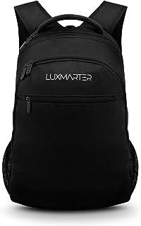 LUXMARTER Sac à Dos Ordinateur Portable 17.3 Pouces - Noir 25L Imperméable Léger Durable - Sac Ados Homme Femme Élégant - ...
