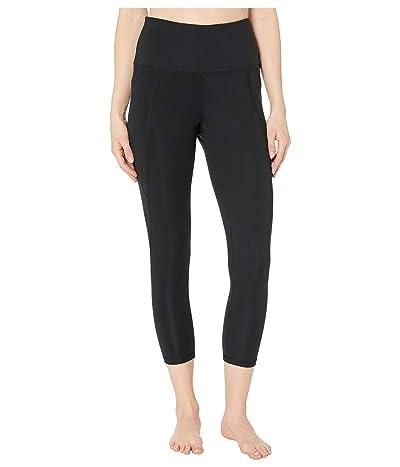Jockey Active High-Waist Capris with Pockets (Deep Black) Women
