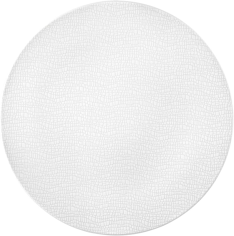 Seltmann Weiden 001.744907 Fashion Luxury Weiß Servierplatte Rund, Weiß B07BZDNQ6L