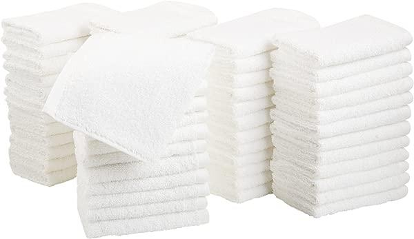 AmazonBasics Cotton Washcloths Pack Of 60 White
