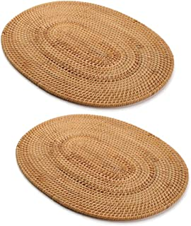 Best oval wicker placemats Reviews