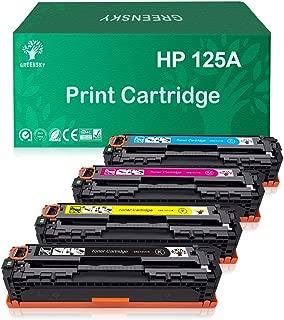 GREENSKY Compatible Toner Cartridge Replacement for HP 125A CB540A CB541A CB542A CB543A Color Laserjet CM1312 MFP CM1312nfi CP1215 CP1515n CP1518ni (Black, Cyan, Yellow, Magenta, 4-Pack)