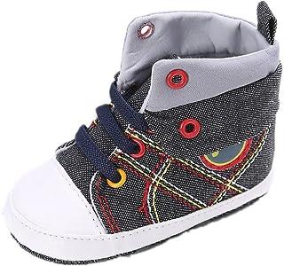 Calzado Auxma Zapatos de niño Suaves Antideslizantes del niño del Zapato de Lona del Deporte de la Muchacha del bebé