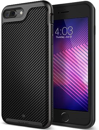 Caseology Envoy for iPhone 8 Plus Case (2017) / iPhone 7 Plus Case (2016) - Premium Leather - Matte Black